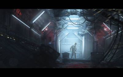 Industrialized - Sci Fi Corridor by BoldCat