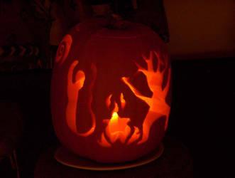 Samhain Pumpkin by LadyDragonTear