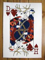 Deer of Hearts Screenprint by spookDD