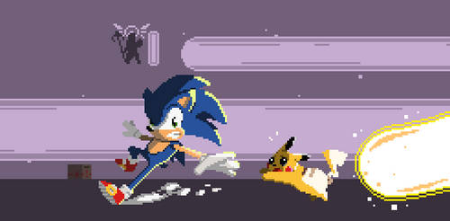 So close, Sonic by SquirrelKidd