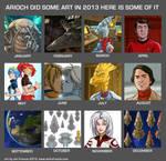 2013 Monthly Art by AriochIV