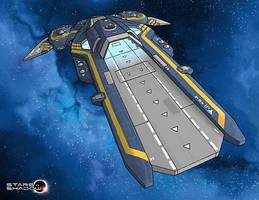 Stars in Shadow: Ashdar Carrier Illustration WIP by AriochIV