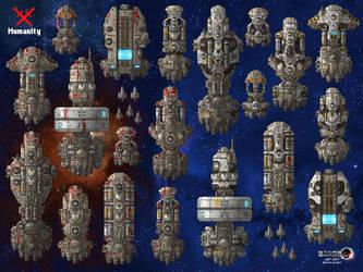 Stars in Shadow: Human Ships by AriochIV