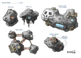 Stars in Shadow: Asteroid Bases by AriochIV