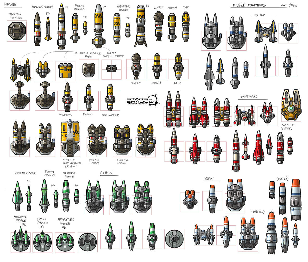 Stars in Shadow: Missile Variants by AriochIV