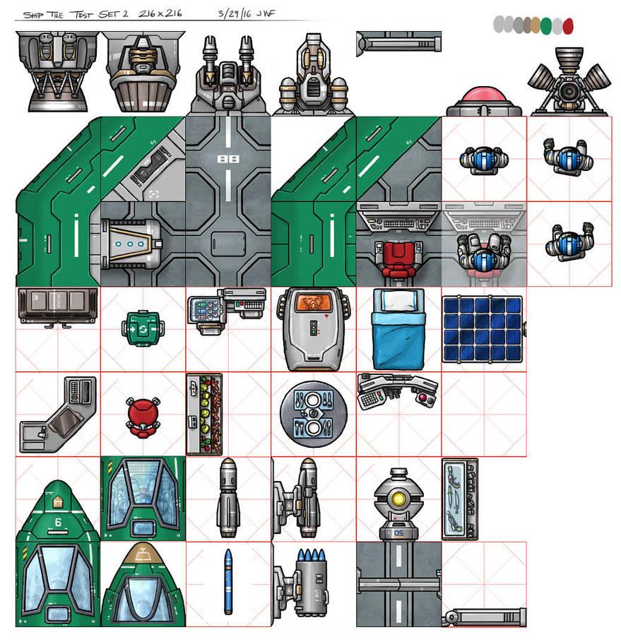 NTC Spacecraft Tileset by AriochIV