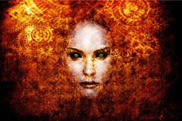 Clockwork Goddess by theRANDOM-ARTIST