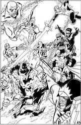 Commission: Marvel 7 VS DC 7 by CrimeRoyale