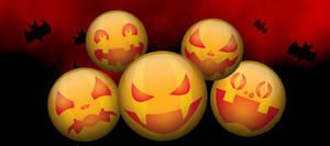 Jack-o'-Lantern Buttons by donovanscherer