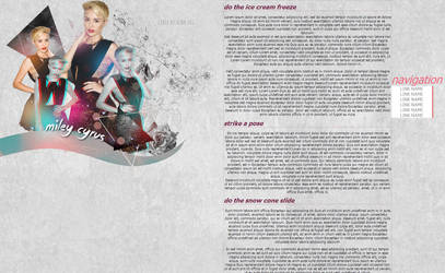 Miley Cyrus Petpage layout by ItsMeWishingStar