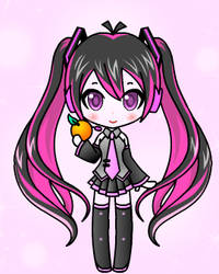 Draculaura as Vocaloid by CerezaPoppygeist