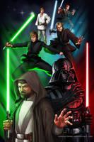 Star Wars - Luke and Anakin Skywalker by GenghisKwan