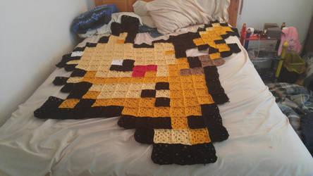 Pikachu Pixel Blanket(FOR SALE) by xSummerStream