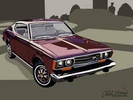 1974 Datsun 610 Coupe by CRWPitman