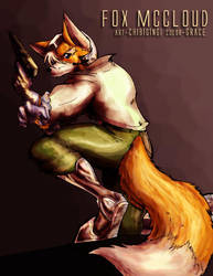 Fox McCloud colored by Grace by chibigingi