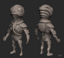 Tribnaut WIP 3 by robotbreath