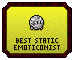 Emote Awards 2013 - Best Static Emoticonist by Waluigi-Prower