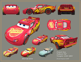 Lightning McQueen PSP by NaruHinaFanatic