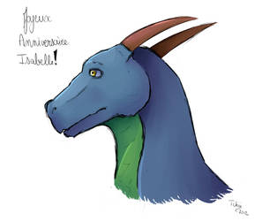 Dessin dragon pour anniversaire by Tchiiweb