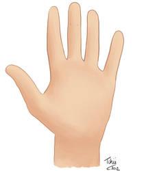 Dessin d une main pour devinette by Tchiiweb