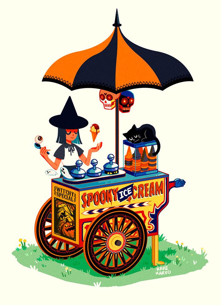 Spooky Ice Cream by karekareo