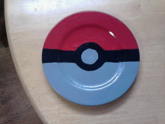 Geek Plate Number 1 - Pokeball by Tukadian