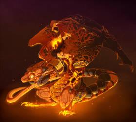 Golden fire by HelmiP