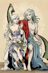 Dragon and Princess by Kimir-Ra