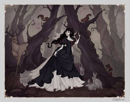 Snow White in Woods by IrenHorrors