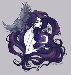 Lady Night by IrenHorrors