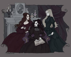 The Black Sisters by IrenHorrors