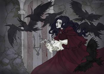 The Seven Ravens by IrenHorrors