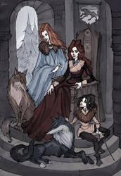 Stark Family: Ladies by IrenHorrors