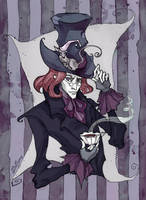 The Mad Hatter portrait by IrenHorrors