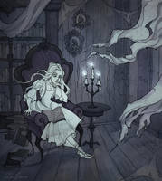 Reading Ghost by IrenHorrors