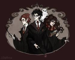 The Golden Trio by IrenHorrors