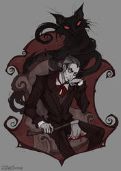 The Black Cat by IrenHorrors