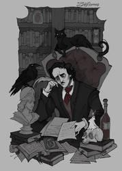 Edgar Allan Poe by IrenHorrors