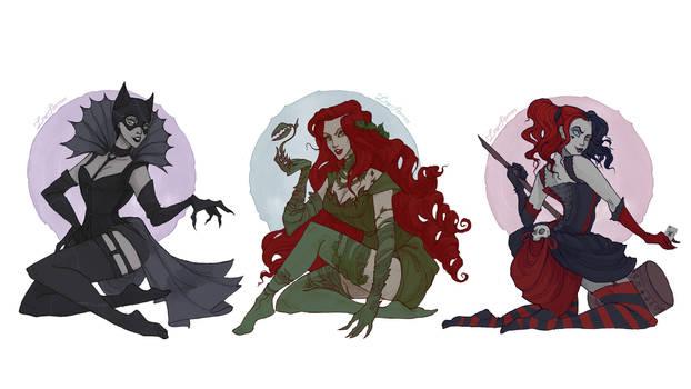 DC Villain Girls by IrenHorrors