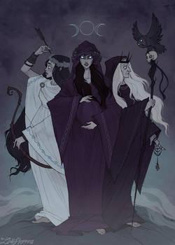 Triple Goddess by IrenHorrors