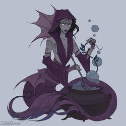 Witch Mermaid by IrenHorrors