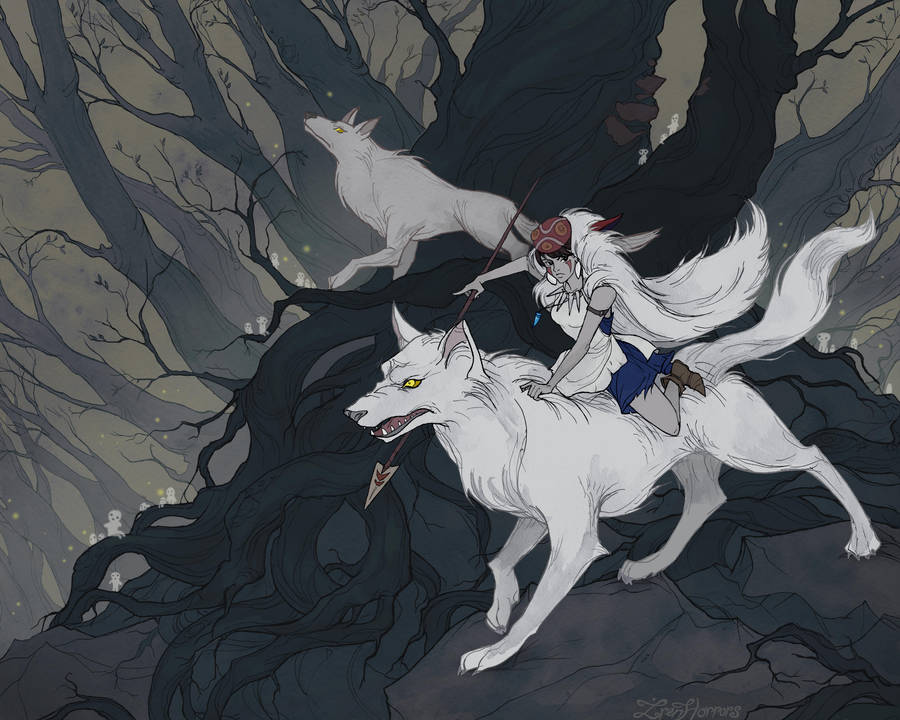 Princess Mononoke by IrenHorrors