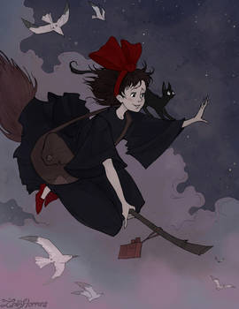 Kiki's Delivery Service by IrenHorrors