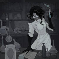 Drawlloween Laboratory by IrenHorrors