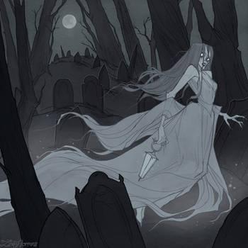 Drawlloween Ghost by IrenHorrors