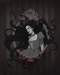 Drawlloween Haunted Mirror by IrenHorrors