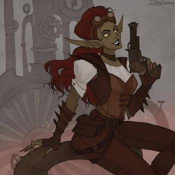 Drawlloween Goblin by IrenHorrors