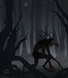 Drawlloween Dark Forest by IrenHorrors