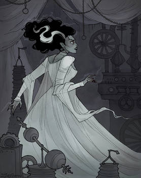 Drawlloween Bride by IrenHorrors