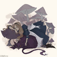 Sleeping Alice by IrenHorrors